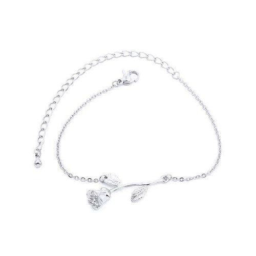 Rose Flower Statement Bracelet 304 stainless steel - Diversoworld