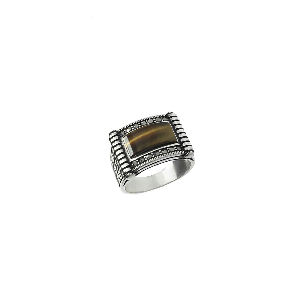Mens jewelry/ Nixir/ Silver ring/ London/ Jewelry designer/ Handmade jewelry/ Tiger eye