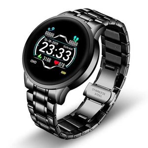 Open image in slideshow, Stainless Steel Black Smart Watch for Men Android Watch | LK 126®