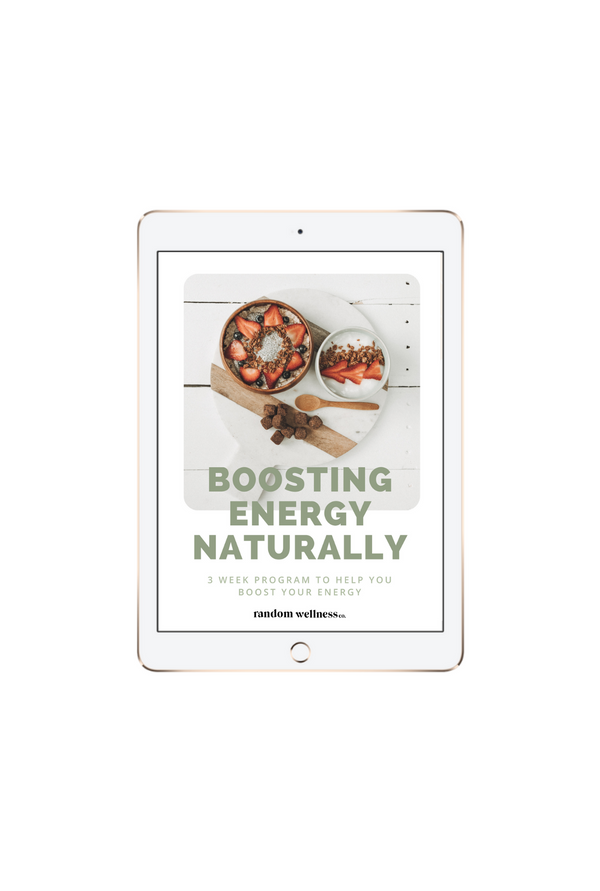 Boosting Energy Naturally Ebook