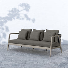 "Load image into Gallery viewer, Numa Outdoor Sofa 81"" (Grey/Charcoal)"