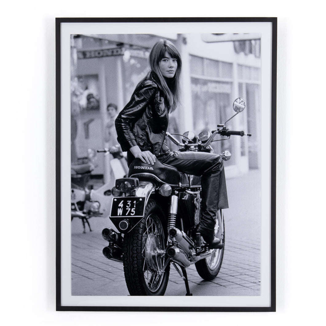 Francoise Hardy on Bike by Getty Images