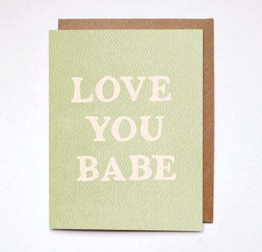 Love you card
