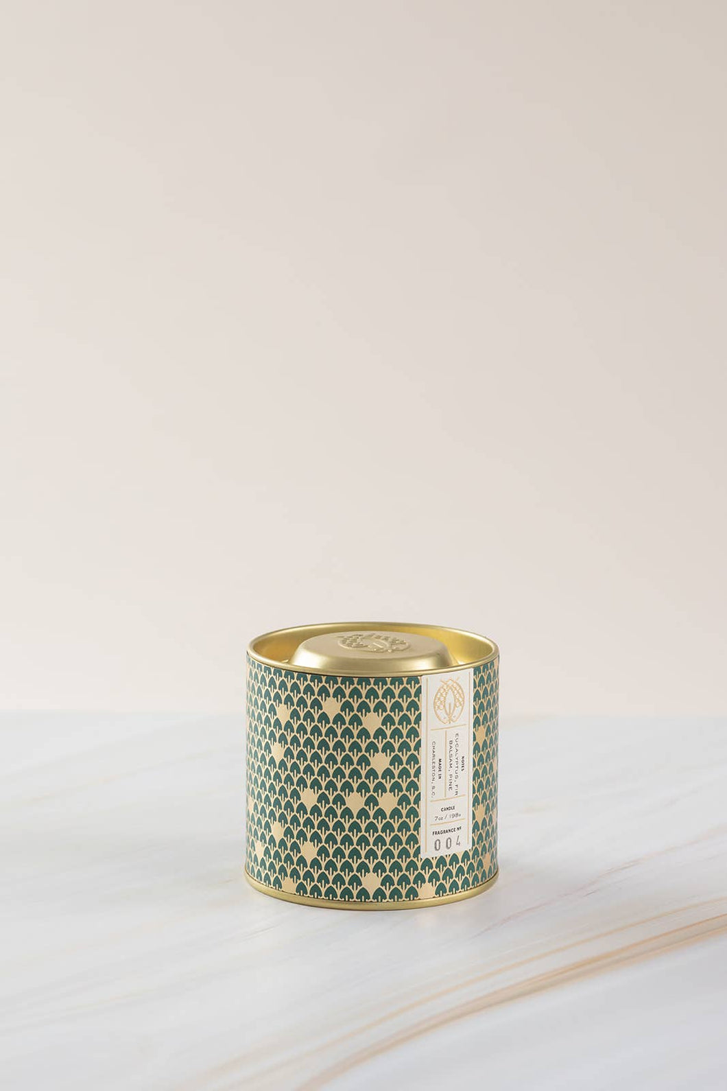 No. 4 Gold Tin w/ Embossed Lid (Holiday Green) 7 oz