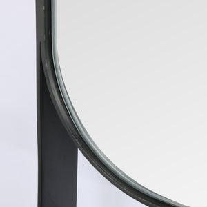 Luther Entry Mirror (Brushed Gunmetal