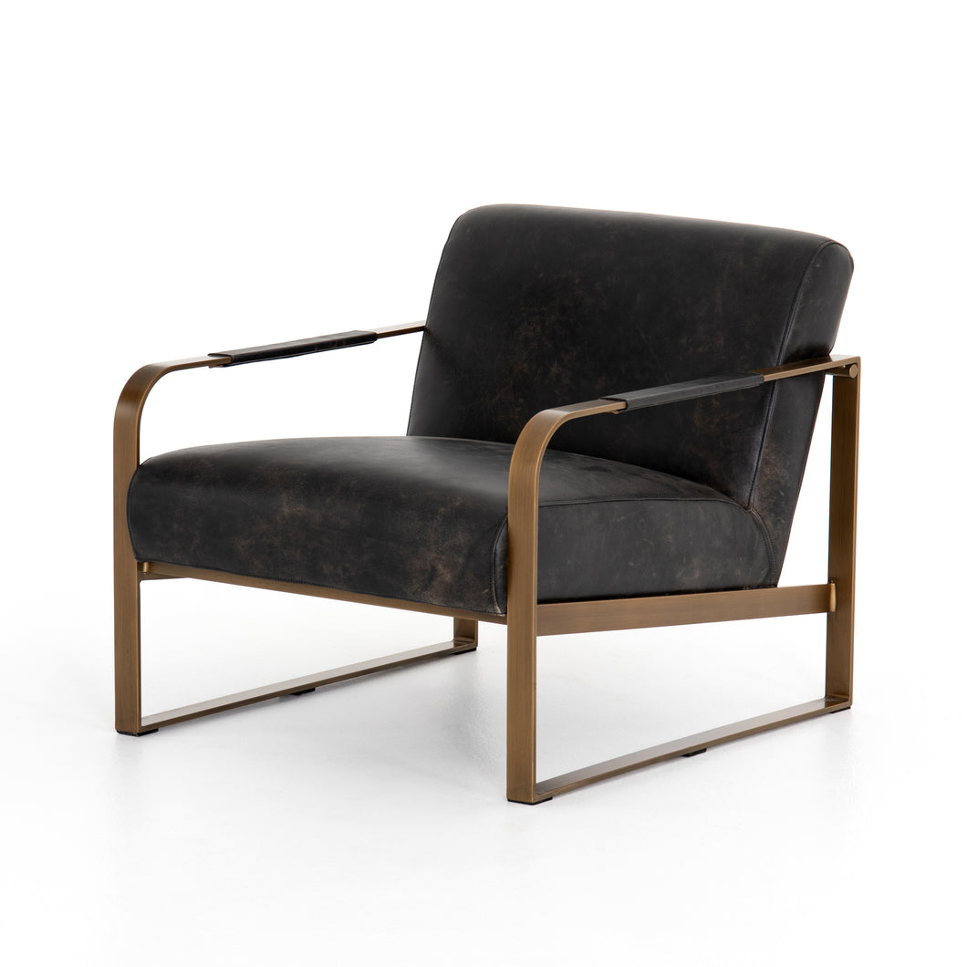Jules Leather Chair (Rialto Ebony)