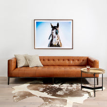 "Load image into Gallery viewer, Marlin Leather Sofa 96"" (Manhattan Sycamore)"
