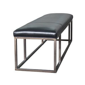 Beaumont Leather Bench (Rider Black)