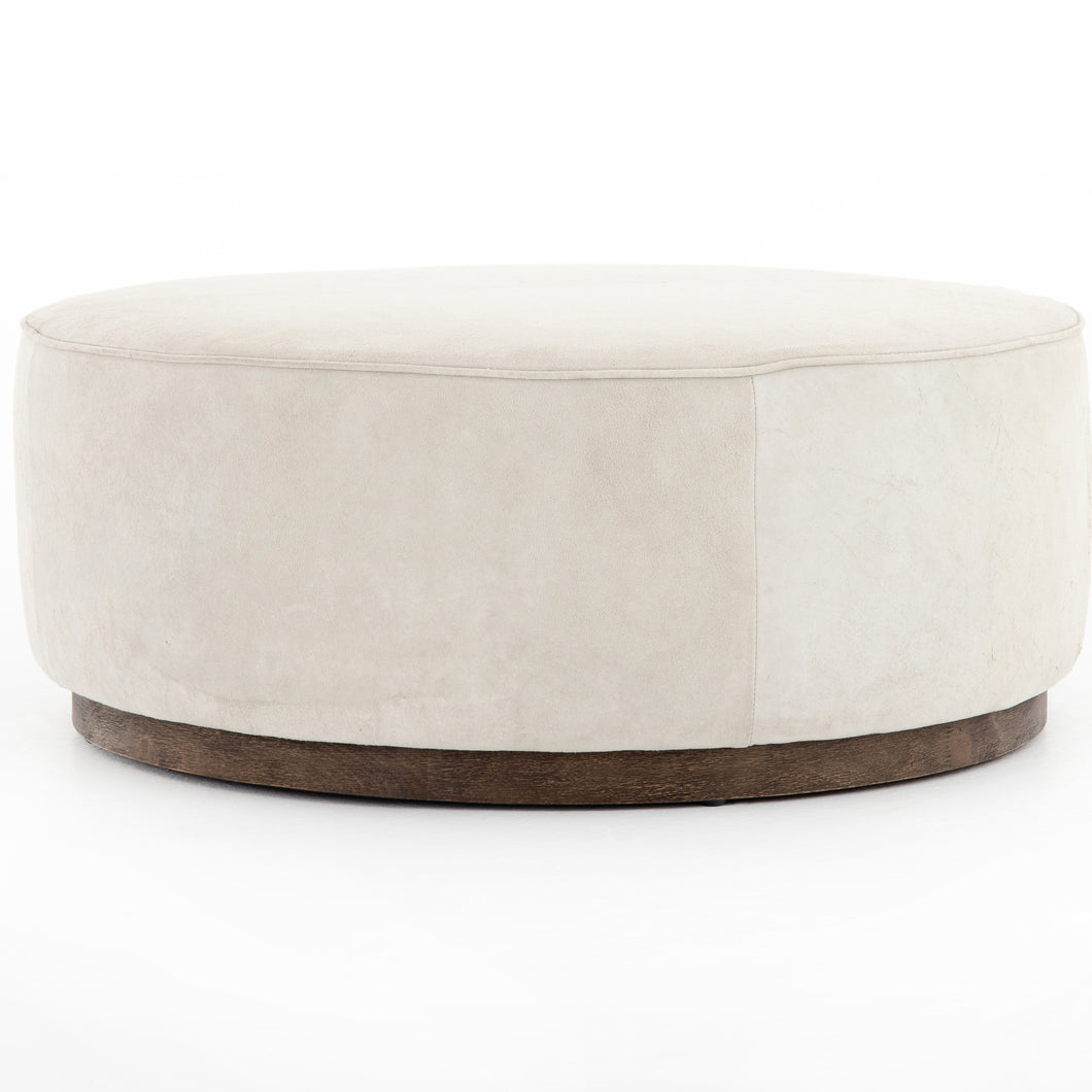 Sinclair Large Round Ottoman (Whistler Oyster)