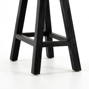 Hattie Rectangular Accent Stool (Black)