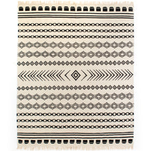 Load image into Gallery viewer, Black Patterned Stripe Rug 8' X 10'
