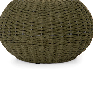 Phoenix Outdoor Accent Stool (Olive Rope)