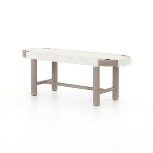 Sumner Outdoor Bench (Weathered Grey)