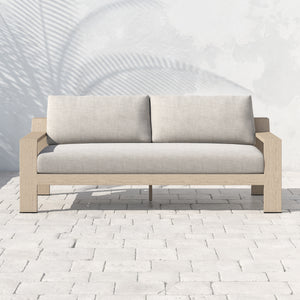 "Monterey Outdoor Sofa 74"" (Brown/Stone Grey)"