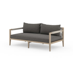 "Sherwood Outdoor Sofa 63"" (Brown/Charcoal)"