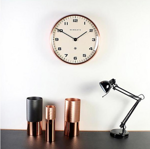 Chrysler Wall Clock Copper with White Face