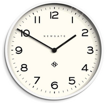 Load image into Gallery viewer, Number One Clock White