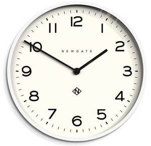 Number One Clock White