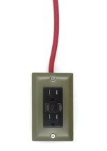 Load image into Gallery viewer, The Exto USB Plug Outlet (12FT) Army Green