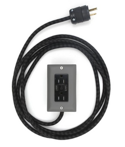 The Exto USB Plug Outlet (12FT) Fog Grey