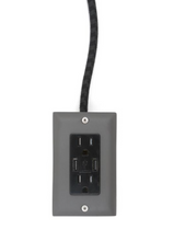 Load image into Gallery viewer, The Exto USB Plug Outlet (12FT) Fog Grey