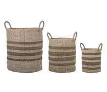 Load image into Gallery viewer, Seagrass & Palm Baskets with Handles