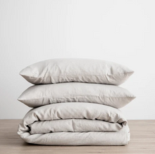 Load image into Gallery viewer, Linen Duvet Cover Set - Smoke Gray