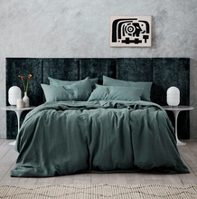Load image into Gallery viewer, Linen Duvet Cover Set - Bluestone