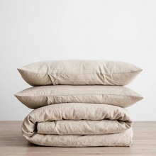 Load image into Gallery viewer, Linen Duvet Cover Set - Natural