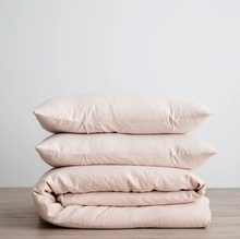 Load image into Gallery viewer, Linen Duvet Cover Set - Blush