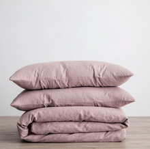 Load image into Gallery viewer, Linen Duvet Cover Set - Dusk
