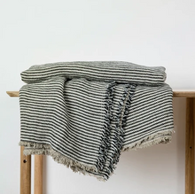 Load image into Gallery viewer, Mira Linen Throw - Ellis Stripe