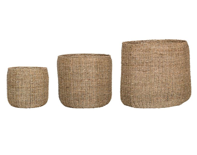 Round Natural Seagrass Basket