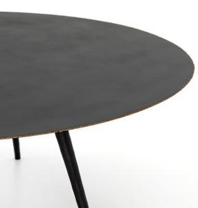 Trula Round Coffee Table Rubbed Black
