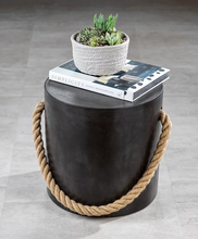 Load image into Gallery viewer, Concrete Stool with Rope Accent