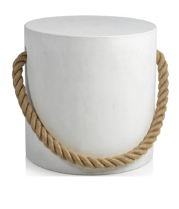 Concrete Stool with Rope Accent