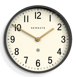 Mr Edwards Large Grey Wall Clock with White Face