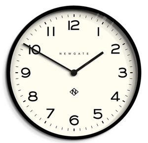 Number One Clock Black