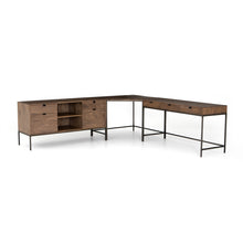 Load image into Gallery viewer, Trey Desk System With Filing Credenza