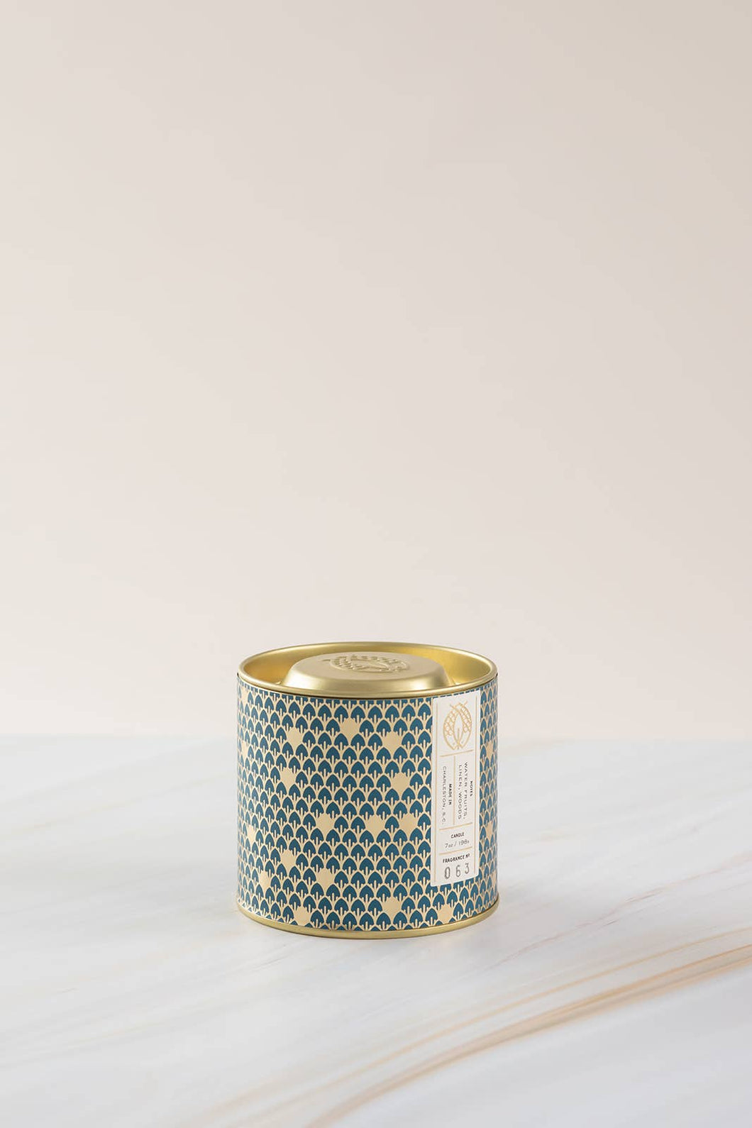 No. 63 Gold Tin w/ Embossed Lid (Blue) 7 oz