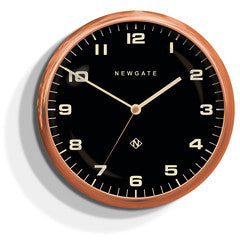 Chrysler Wall Clock Copper with Black Face