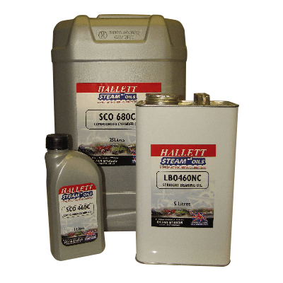 Hallett Steam Oils 1 Litre Bottles