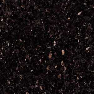 "Black Galaxy - 4"" Tall Backsplash - 2cm Thick - Minimum 96"" piece"