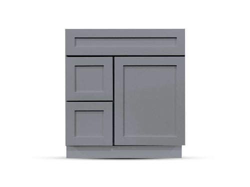 30 Charcoal Shaker Drawers Left