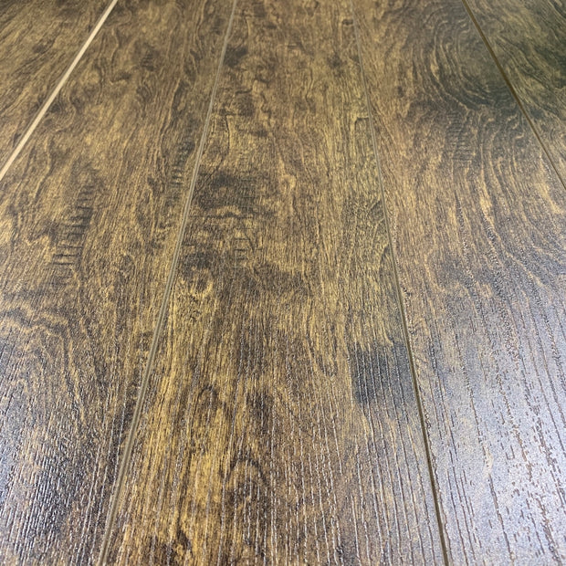 Load image into Gallery viewer, 12mm Value Pad Attached Ash Brown Laminate Wood Flooring