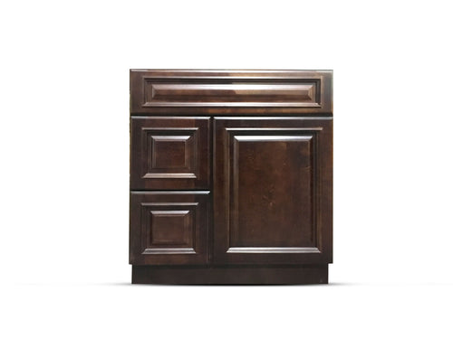 30 Inch Bathroom Cabinet Vanity Heritage Espresso Right Drawers
