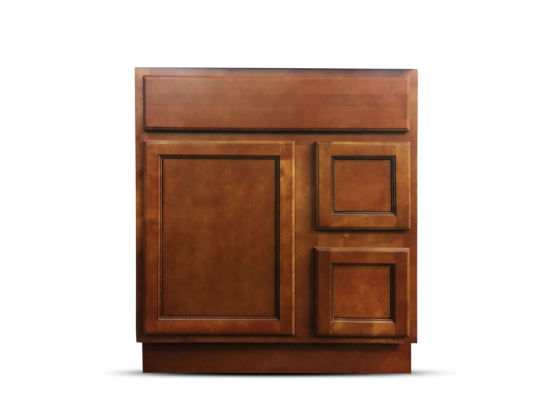 30 Inch Bathroom Cabinet Vanity Flat Panel Ginger Left Drawers