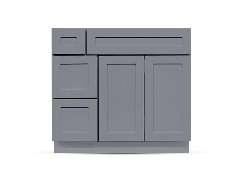 36 Charcoal Shaker Drawers Right