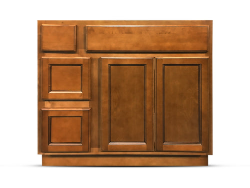 36 Inch Bathroom Cabinet Vanity Flat Panel Ginger Right Drawers