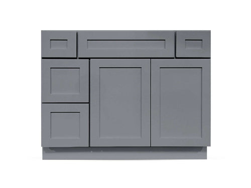 42 Charcoal Shaker Drawers Right